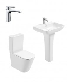 Reflections Full Pedestal & Fully Shrouded WC Pack - Scope Basin Mixer - Special Offer