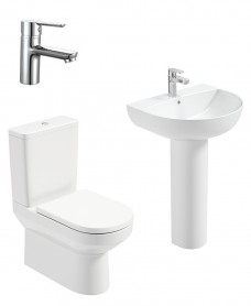 Vienna Round Full Pedestal & Fully Shrouded WC Pack -Nena  Basin Mixer - Special Offer