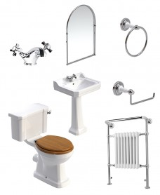 Westbury Close Coupled WC Pack - Edwardian Basin Mixer - Special Offer