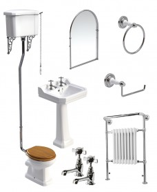 Westbury High Level WC Pack - Edwardian Basin Mixer- Special Offer