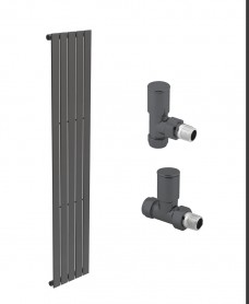 Piatto 376 Anthracite Single Panel Heated Towel Rail - Special Offer