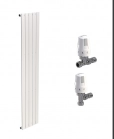 Piatto 376 White Single Panel Heated Towel Rail - Special Offer