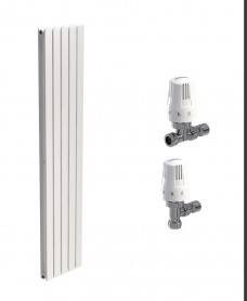 Piatto 380 White Double Panel Heated Towel Rail - Special Offer