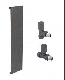 Piatto 452 Anthracite Single Panel Heated Towel Rail - Special Offer