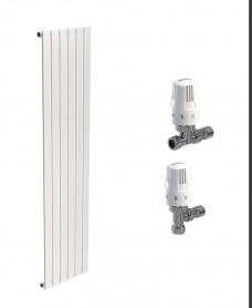 Piatto 452 White Single Panel Heated Towel Rail - Special Offer