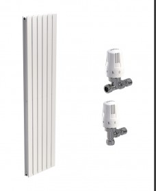 Piatto 456 White Double Panel Heated Towel Rail - Special Offer