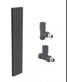 Amura 360 Anthracite Double Panel Heated Towel Rail - Special Offer