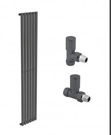 Amura 360 Anthracite Single Panel Heated Towel Rail - Special Offer