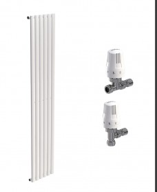Amura 360 White Double Panel Heated Towel Rail - Special Offer