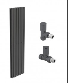 Amura 480 Anthracite Double Panel Heated Towel Rail - Special Offer