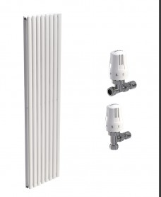 Amura 480 White Double Panel Heated Towel Rail - Special Offer