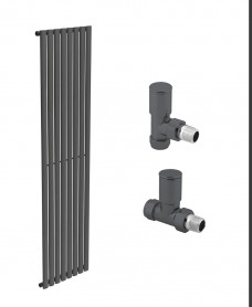 Amura 480 Anthracite Single Panel Heated Towel Rail - Special Offer
