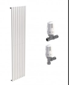 Amura 480 White Single Panel Heated Towel Rail - Special Offer