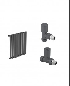 Amura 600 Anthracite Single Panel Heated Towel Rail - Special Offer