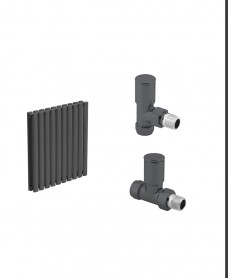 Amura 600 Anthracite Double Panel Heated Towel Rail - Special Offer