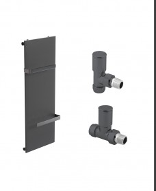 Synergy 1220 Anthracite Heated Towel Rail - Special Offer