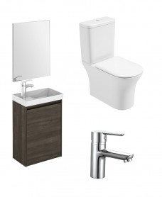 Dijon Cloakroom Samara Ash Wall Hung & Amanda WC Pack - Special Offer