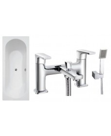 Lotus 1700 x 700 Single Ended Bath - Special Offer* - Includes chrome HORLEY Bath Shower Mixer & Waste