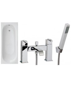 Lotus 1700 x 700 Single Ended Bath - Special Offer* - Includes chrome POOLE Bath Shower Mixer & Waste