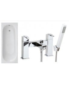Lotus 1700 x 700 Single Ended Bath - Special Offer* - Includes chrome RIPLEY Bath Shower Mixer & Waste