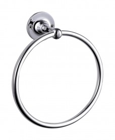 Stockton Whole Brass Traditional Towel Ring