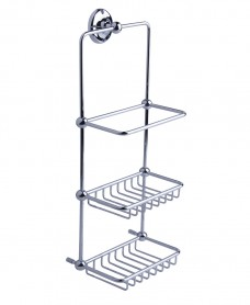 Stockton Traditional Wall mounted Shower basket 435x165x205mm Chrome