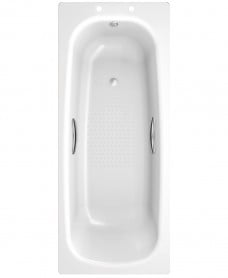 Strata Single Ended 1700 x 700 Steel Bath - with Grips and Anti Slip