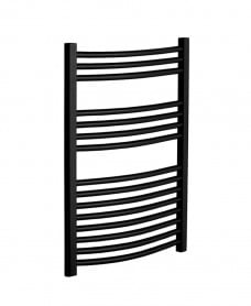 800 x 500 Curved Towel Warmer Black