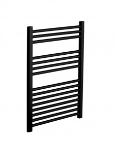 800 x 500 Straight Towel Warmer Black
