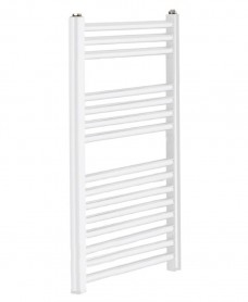 Sonas 800 x 500 Straight Towel Rail - White
