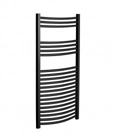 1200 x 500 Curved Towel Warmer Black
