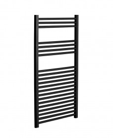 1200 x 600 Straight Towel Warmer Black