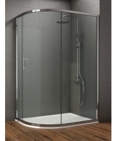 Style 1200x800mm Single Door Offet Quadrant Enclosure  - Adjustment 1200 - 800mm