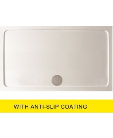 Kristal Surface 25mm  1000x800 Slimline Shower Tray and FREE 90mm Waste - Anti Slip