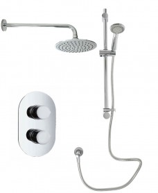 Tristan Oval Thermostatic Shower Kit C
