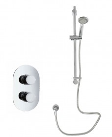 Tristan Oval Thermostatic Shower Kit M