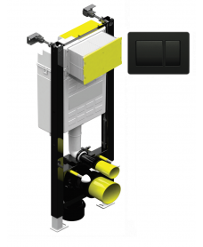 Fastfix High Frame for Wall Hung Toilet black  fascia plate, rectangular