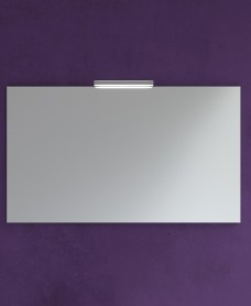 1000mm x 700mm Mirror & Veronica Chrome Light