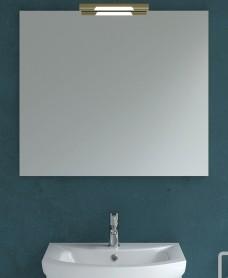 800mm x 700mm Mirror & Andrea Brass Light