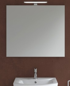 800mm x 700mm Mirror & 600mm Pandora Chrome Light