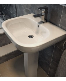 Sigma 55cm Washbasin 1TH & Full Pedestal