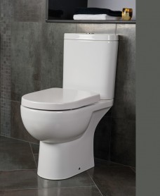 Sigma Close Coupled Open Back WC & Delta Seat