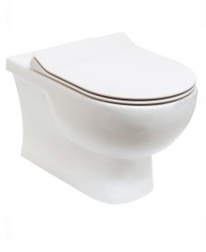 Tonique Wall Hung RIMLESS Toilet & Slim Soft Close Quick Release Seat