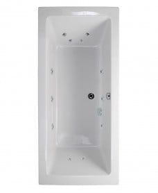 Pacific Endura Double Ended 1700x750mm 12 Jet Bath