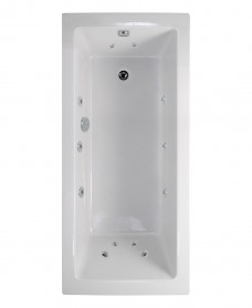Pacific Single Ended 1700x700mm 12 Jet Bath