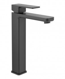 Contour Eco Flow Freestanding Basin Mixer Matt Black