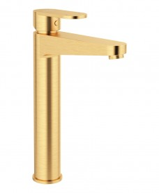 Norfolk Eco Flow Freestanding Basin Mixer Brushed Gold