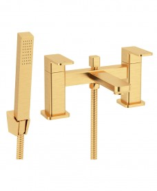 Contour Bath Shower Mixer Brushed Gold