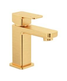 Contour Cloakroom Basin Mixer Brushed Gold