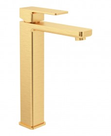 Contour Eco Flow Freestanding Basin Mixer Brushed Gold